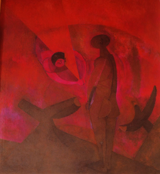 TAMAYO, Rufino (1899-1991):PROMETHEUS BRINGING FIRE TO MANKIND, 1958:The UNESCO works of art collection
